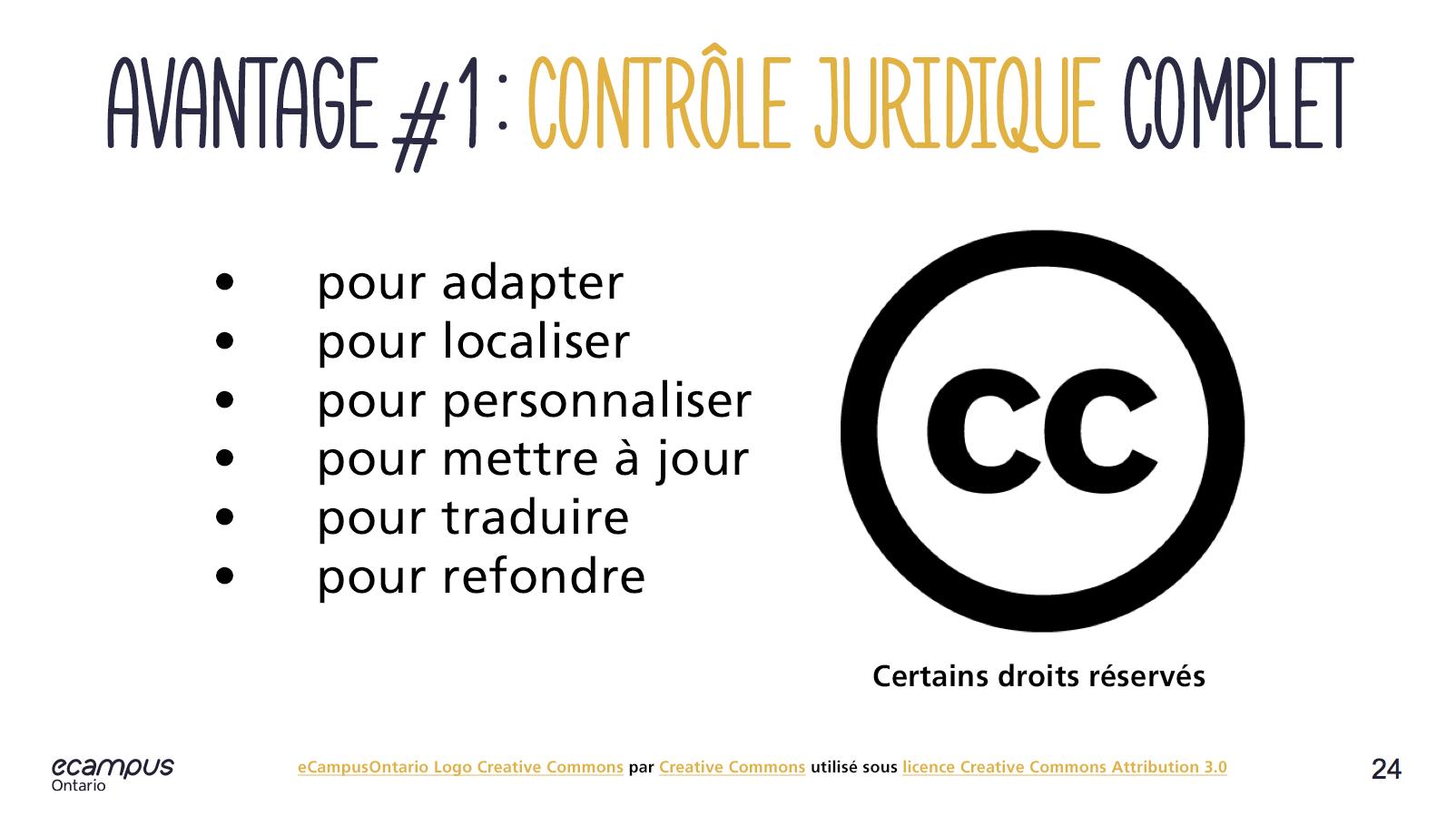 Avantages de la licence Creative Commons