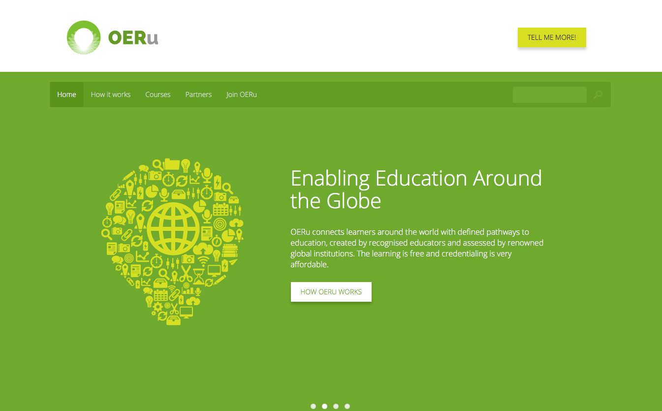 Page d'accueil OERu