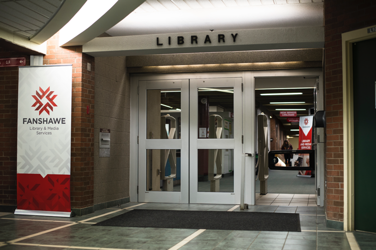 Fanshawe College Library entrance