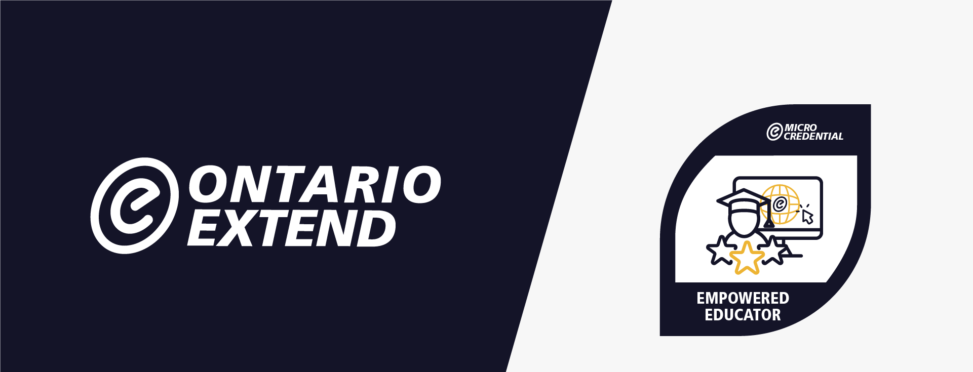 Ontario Extend logo with a micro-credential
